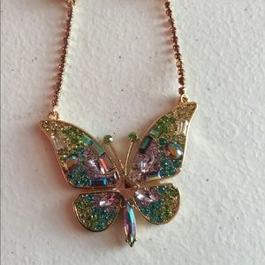 Betsey Johnson butterfly necklace